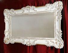Bilderrahmen Barock Hochzeitsrahmen Weiß-Gold Antik 97x57 Bilderrahmen Groß xxl