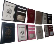 3 New USA Leather passport case assort. wallet credit ATM card case ID holder BN
