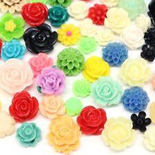 20x Flatback Resin Flower Craft DIY Cabochons Scrapbooking Mix Style 9-15mm