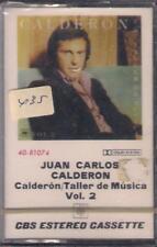 JUAN CARLOS CALDERON Taller de musica Cassette   NEW SEALED   NUEVO PRECINTADO