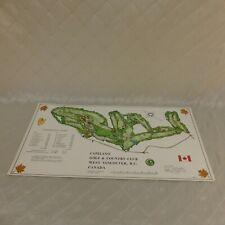 Capilano Golf Country Club Course Canada Survey Map 1968 Izatt UK Designed