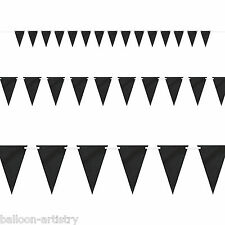 9ft Halloween BLACK Chalk Board Pennant Flag Banner Bunting Party Decoration
