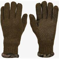 Hunting Gloves Men's RAGG WOOL Mossy Oak Break-Up Country Fleece Cuff Non-Slip