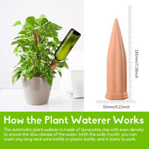 4 Pcs Plant Waterer Self Watering Terracotta Spikes Automatically Vacatio AU