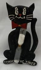 Tommie the Timer Cast Iron Egg Timer With Built In Stand Black Cat
