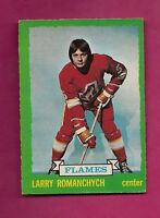 1973-74 OPC # 185 FLAMES LARRY ROMANCHYCH ROOKIE EX-MT  CARD (INV#5869)
