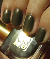 NEW! Estee Lauder Nail Polish Lacquer METALLIC SAGE ~ Green Gold Rose Shimmer