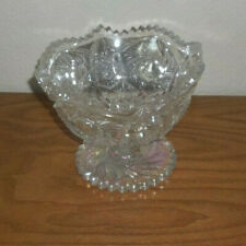 "Crystal Glass Bowl - 5"" Tall - Decorative Home Decor - Mint"