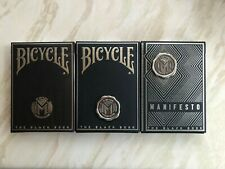 Set of 3 Manifesto Black Book Playing Cards by Uncommon Beat Bicycle & Unbranded