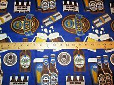 Beer Bottles Beer Mugs Six Pack Beer & Logo Allover Cotton Flannel BTY
