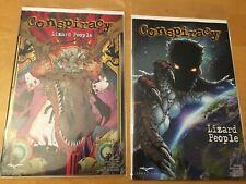 Conspiracy Lizard People 1 (Regular & Variant) Nm+ 9.6, Cgc Worthy, Zenescope