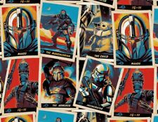 FAT QUARTER FABRIC  TRADING CARD STACK  MANDALORIAN  STAR WARS  100% COTTON  FQ