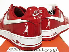 DS 2004 NIKE AIR FORCE 1 LOW SHEED Patent varsity red/white 306347-611 sz 8.5