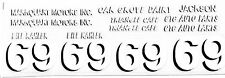#69 Bill Kahler race car DECAL SHEET