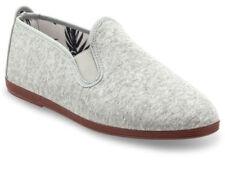 scarpe da barca da uomo grigi tela