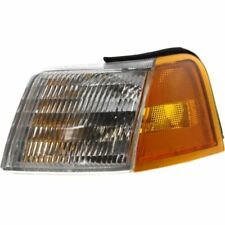 For Cougar 89-95, Driver Side Corner Light, Clear and Amber Lens, Plastic Lens
