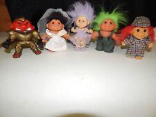 Vintage Lot Troll Dolls 5 Inches Russ Sherlock DAM Waders Bride Battle Trollahad