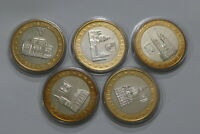 GERMANY 5 BIMETAL STADT MEDALS LOT B19 YK16