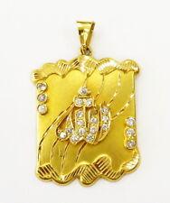 21k Yellow Gold Diamond Cut Allah Arabic Islamic Charm Necklace Pendant ~ 6.0g