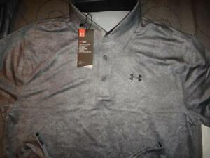 UNDER ARMOUR GOLF DIGITAL CAMO POLO SHIRT MEN SIZE 2XL or XL NWT $59.99