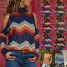 Women Winter High Neck Cold Shoulder Sweater Lady Pullover Jumper Tops Blouse HA