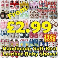 Baby Shoes Soft Leather Pram Girls Boys 0-6,6-12,12-18,18-24 Months (Cc) 2
