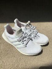 Adidas Ultraboost 4.0 Triple White DNA Running Shoe, Size 9 Boost EUC, 3.0 1.0