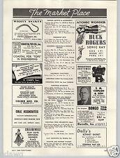 1949 PAPER AD Toy Buck Rogers Sonic Ray Gun Atomic Wonder5 Ben Cooper Costumes