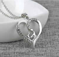 Trendy Silver Plated Chain Pendant Mother and Child Necklace Mother's Day Gift
