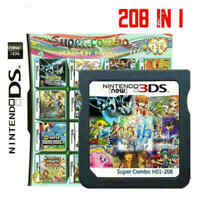 208 in 1 Games Cartridge Multicart For Nintendo NDS NDSI NDSL Game Consoles Fast