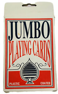 """Jumbo"" Plastic Coated Playing Cards for Extra Large Reading and Vision Impaired"