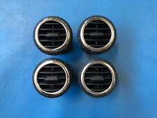 Rover 25 Dashboard Air Vent Set (Black/Chrome) fits MG ZR + Rover Streetwise
