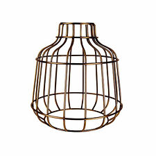Retro Industrial Antique Brass Metal Wire Frame Ceiling Light Pendant Shade