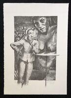 Johannes Duwe, Ohne Titel, Lithographie , 2001, handsigniert und datiert