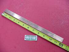 "1/8""x 3/4"" C110 COPPER BAR 12"" long Solid Flat Mill Bus Bar Stock H02 .125 x .75"