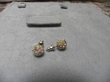 Earrings Pierced. Small White Ball