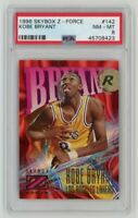 1996-97 Fleer Skybox Z-Force Kobe Bryant PSA 8 RC Rookie #142 Lakers NM-Mint Hot