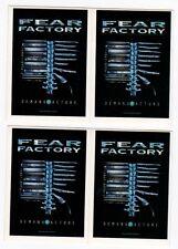 FEAR FACTORY - 4 x Aufkleber - Demanufacture - Sticker