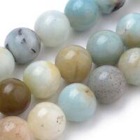 Amazonite 8mm Round 1 Strand Natural Approx 50 Beads