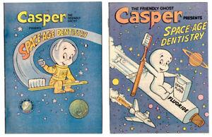 set of 2 CASPER Presents Space Age Dentistry in NM- condition Harvey promo comic