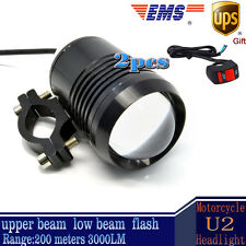 2x 30W Motorcycle CREE U2 LED Driving Headlight Fog Lamp Spot Light For BMW
