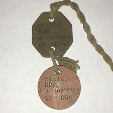 WWI Canadian Dog Tags (CE) Named