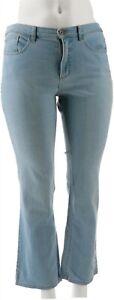 Studio Denim Co Petite Denim Slightly Bootcut Jeans Bleached 24P NEW A296294