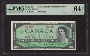 "Canada 🇨🇦 1967 - $1 ""Centennial Commemorative"" - PMG Choice UNC 64 EPQ"