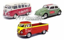 MOTOR CITY CLASSICS 1:72 3PCS CAR SET VOLKSWAGEN MIX W/ ACRYLIC CASE 458385