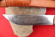 WW2 HUGE Finnish Puukko  Knife with German Vet ID'd Inscription / etching mint