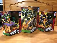 Lot (3) Transformers WFC Kingdom Waspinator, Shadow Panther & Rhinox NEW-IN HAND