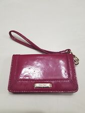 Cole Haan cellphone wallet in purple patent leather
