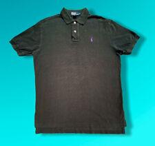 "Ralph Polo Shirt T-Shirt Black Large Like XL Big And Tall P2P 23"""