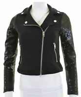 DIESEL Womens Overjacket Size 12 Medium Black Cotton  DS07